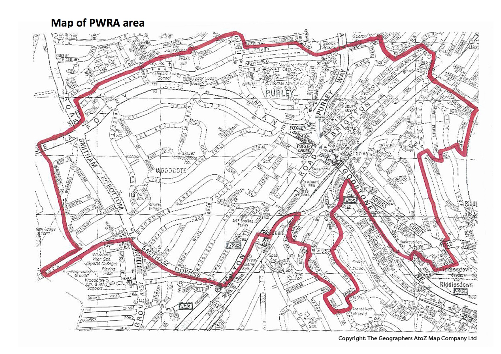 PWRA area map